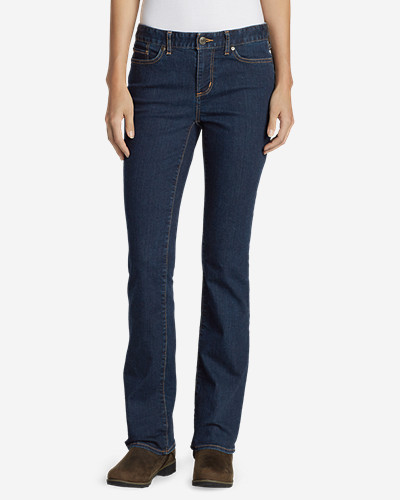 Eddie Bauer Women's StayShape Boot Cut Jeans - Slightly Curvy