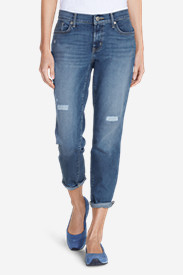 Women's Elysian Boyfriend Slim Cropped Jeans - Destroyed
