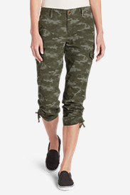 Women's Adventurer® Stretch Ripstop Cropped Cargo Pants - Camo - Slightly Curvy