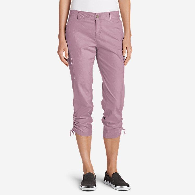 Women's Adventurer® Stretch Ripstop Crop Cargo Pants - Slightly Curvy large version
