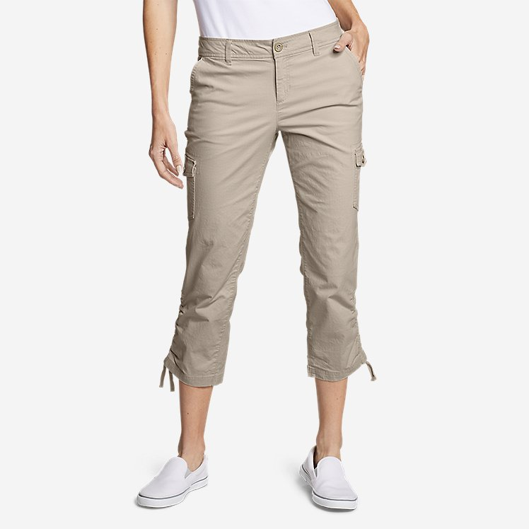 Women's Adventurer® Stretch Ripstop Crop Cargo Pants - Slightly Curvy large version