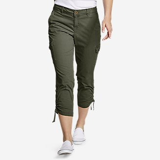 Adventurer® Stretch Ripstop Crop Cargo Pants   Slightly Curvy by Eddie Bauer
