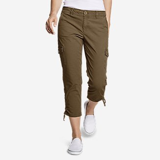 Thumbnail View 1 - Women's Adventurer® Stretch Ripstop Crop Cargo Pants - Slightly Curvy