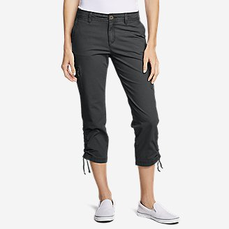 Thumbnail View 1 - Women's Adventurer® Stretch Ripstop Crop Cargo Pants - Slightly Curvy