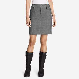Thumbnail View 1 - Women's Classic Wool-Blend Skirt - Pattern
