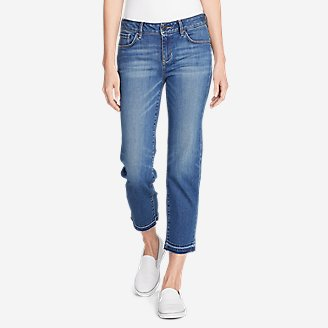 Thumbnail View 1 - Women's Elysian Slim Straight Crop Jeans - Release Hem