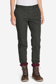 Women's Stretch Legend Wash Flannel-Lined Pants - Boyfriend