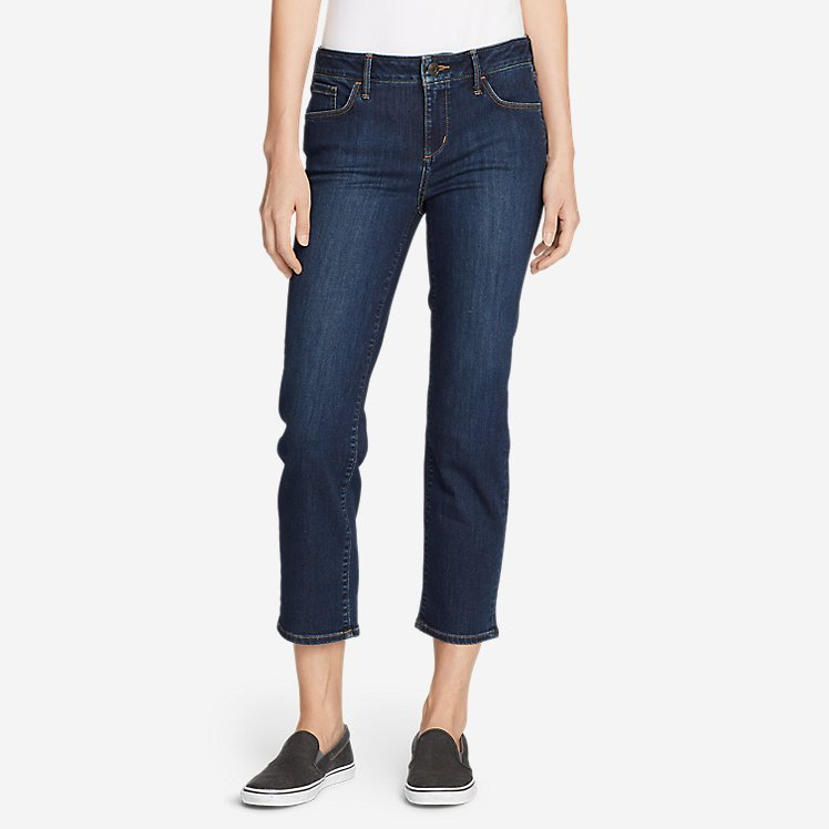 Women's Elysian Slim Straight Crop Jeans large version