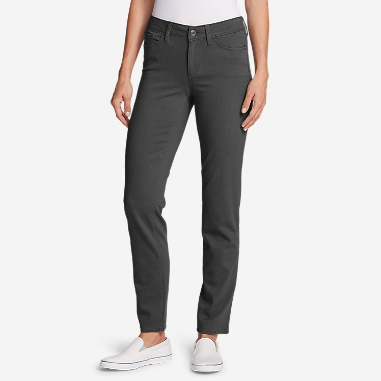 Women's Elysian Slim Straight Jeans - Color - Slightly Curvy large version