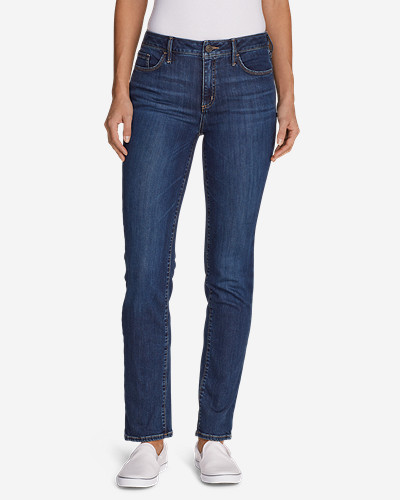 Eddie Bauer Women's Elysian Slim Straight High Rise Jeans