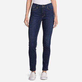 Thumbnail View 1 - Women's StayShape® High-Rise Slim Straight Jeans