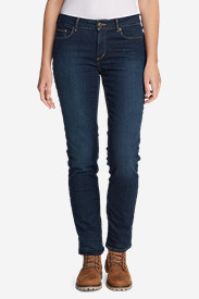Women's StayShape® Fleece-Lined Slim Straight Jeans - Slightly Curvy