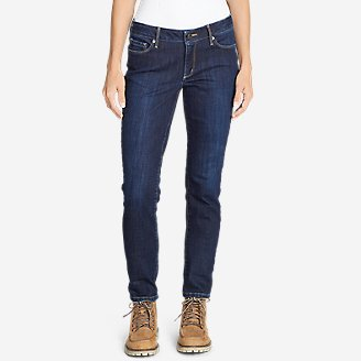 Thumbnail View 1 - Women's Brushed Back StayShape® Slim Straight Leg Jeans - Slightly Curvy