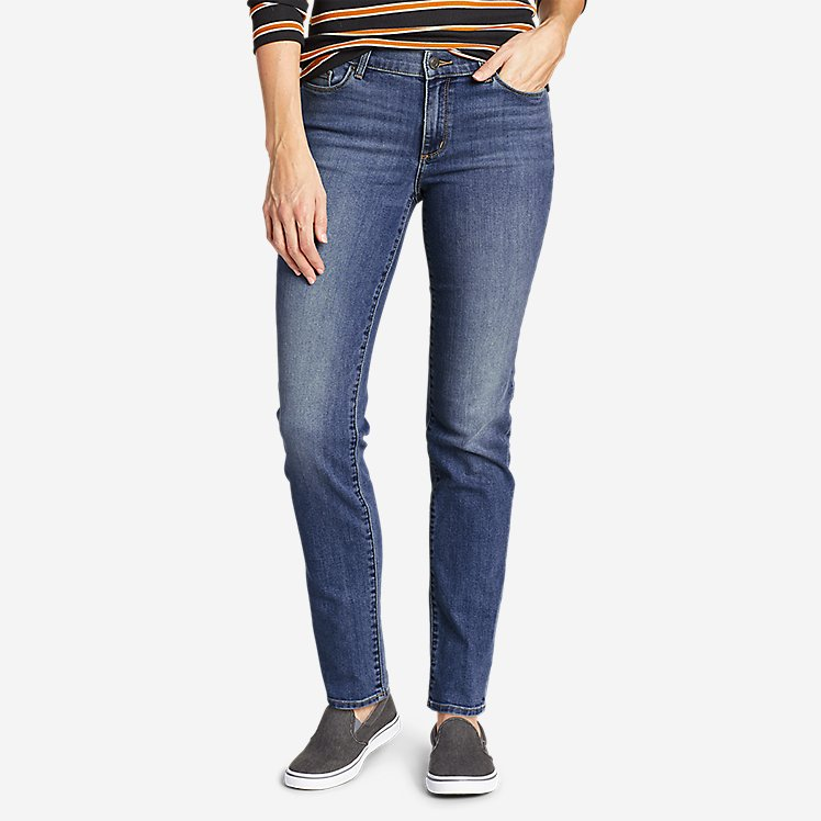 Women's Voyager Slim Straight Jeans - Slightly Curvy large version