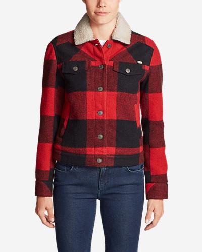 Women's Maple Jacket W/ Sherpa Collar by Eddie Bauer