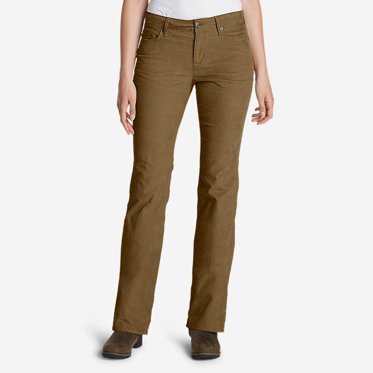Women's Curvy Bootcut Cord Pants large version