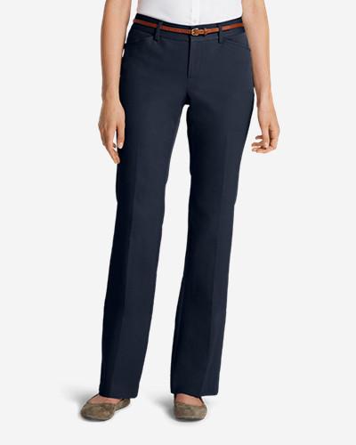 Women's Stay Shape® Twill Trousers   Curvy by Eddie Bauer