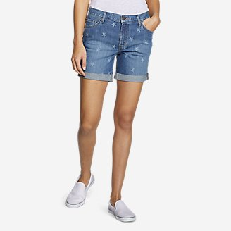 Thumbnail View 1 - Women's Boyfriend Shorts - Stars