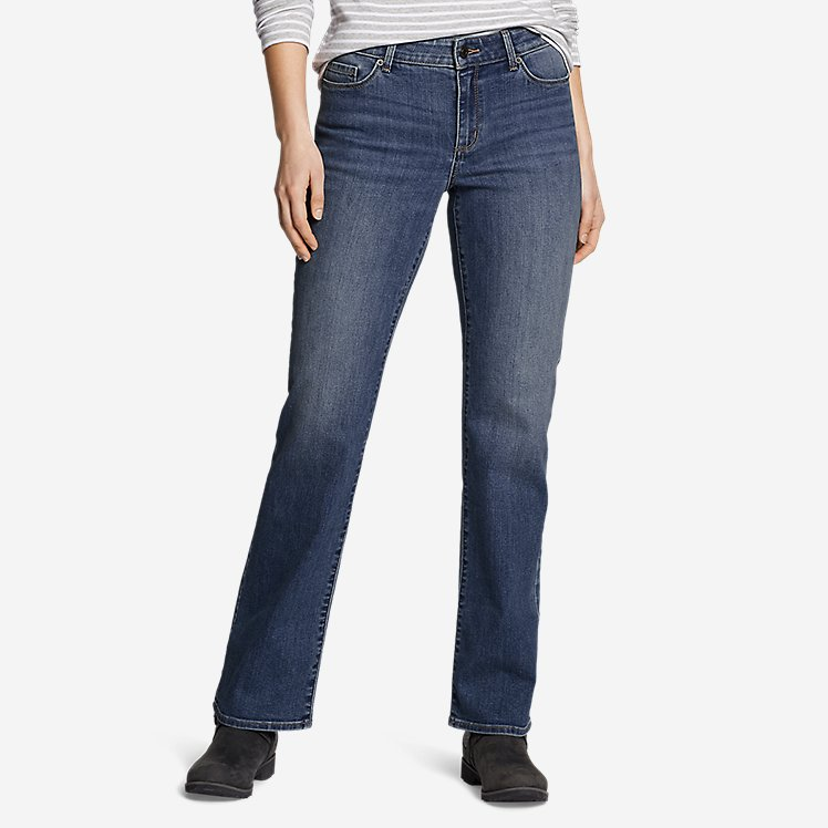 Women's Voyager High-Rise Boot-Cut Jeans - Curvy large version
