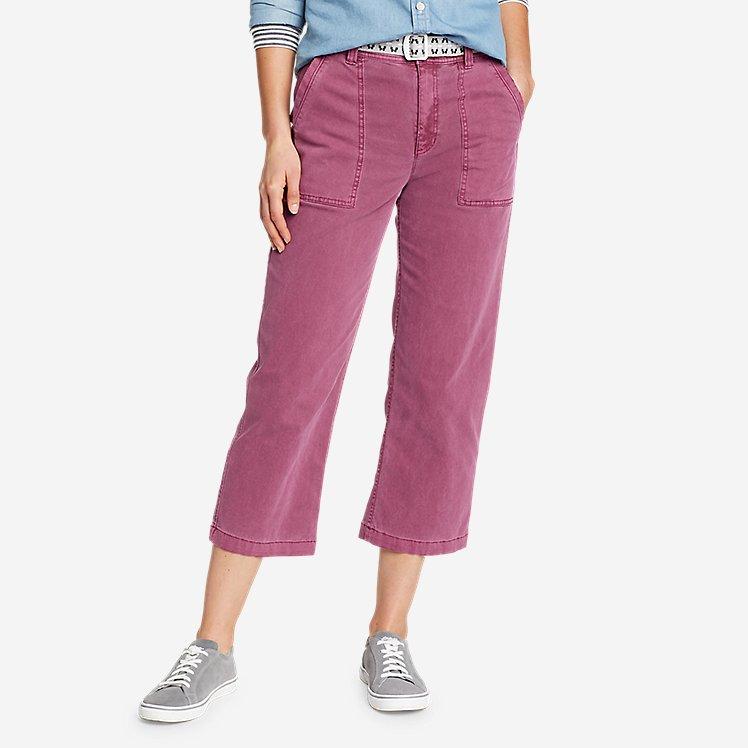 Women's Marina High-Rise Wide-Leg Utility Pants large version