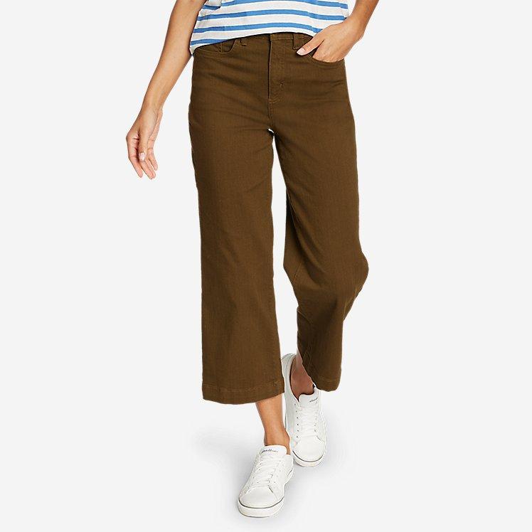 Women's Elysian Slub Twill Wide-Leg Crop Carpenter Jeans large version