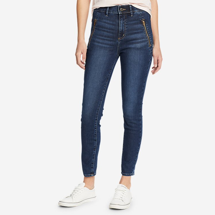 Women's Elysian 1/4-Top Zip High-Rise Skinny Jeans large version