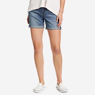 Thumbnail View 1 - Women's Boyfriend Rolled Shorts
