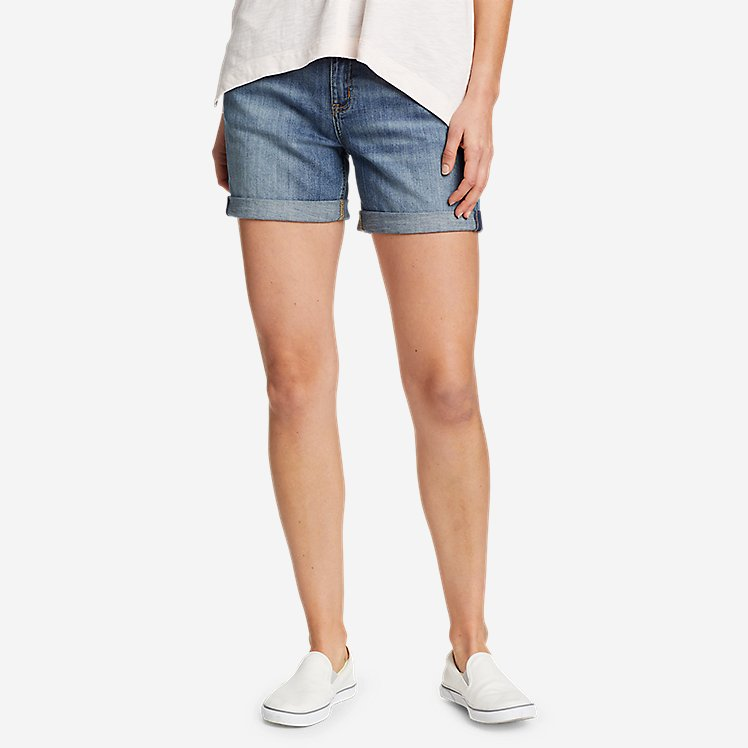 Women's Boyfriend Rolled Shorts large version