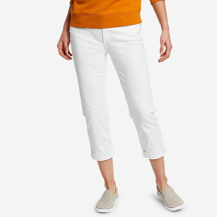 Women's Boyfriend Denim Crop Jeans large version