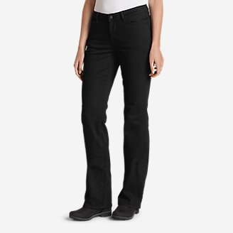 Thumbnail View 1 - Women's StayShape® Bootcut Black Jeans - Curvy
