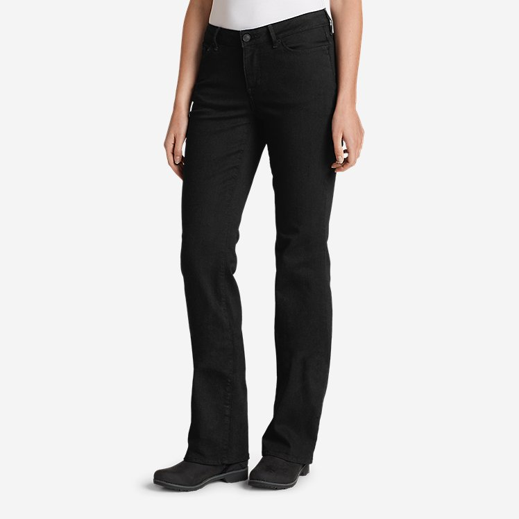 Women's StayShape® Bootcut Black Jeans - Curvy large version
