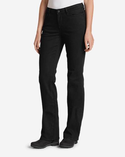 Eddie Bauer Women's StayShape Bootcut Black Jeans - Curvy