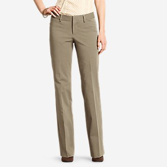 Thumbnail View 1 - Women's StayShape® Twill Trousers - Slightly Curvy