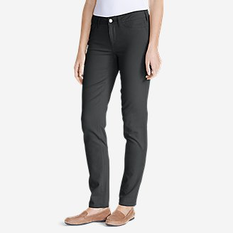 Thumbnail View 1 - Women's Elysian Twill Slim Straight Jeans - Slightly Curvy