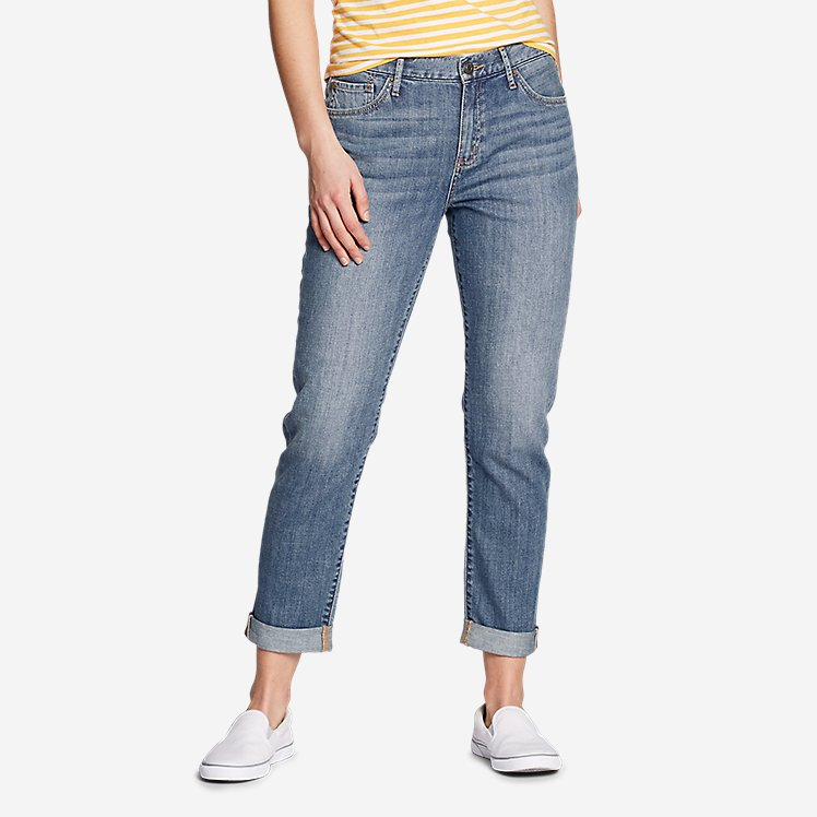 Women's Boyfriend Jeans - Slim Leg large version