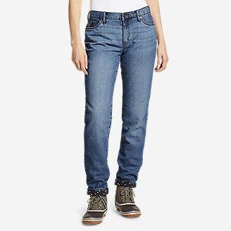 Thumbnail View 1 - Women's Boyfriend Flannel-Lined Jeans