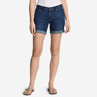 Thumbnail View 1 - Women's Boyfriend Denim Shorts