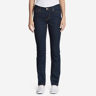 Thumbnail View 1 - Women's StayShape® Straight Leg Jeans - Curvy