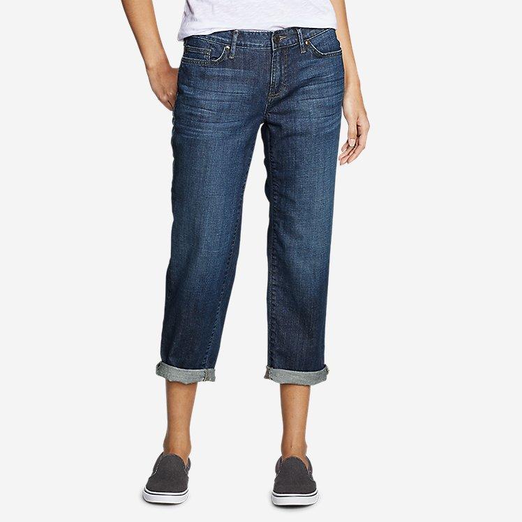 Women's Boyfriend Cropped Jeans large version
