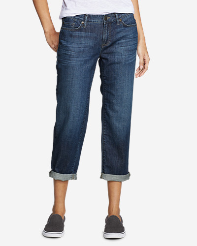Eddie Bauer Women's Boyfriend Cropped Jeans