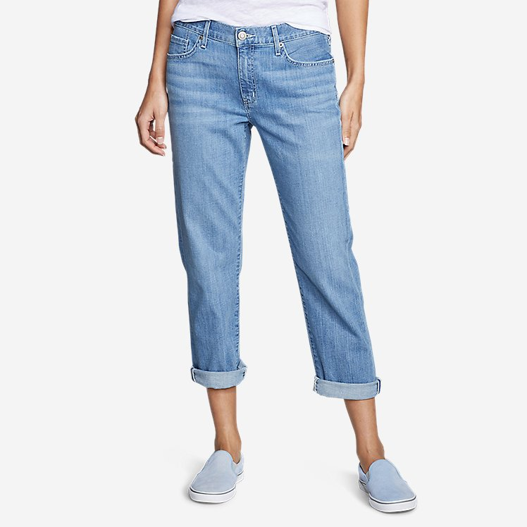Women's Boyfriend Cropped Jeans large version