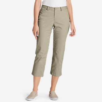 Thumbnail View 1 - Women's Stretch Legend Wash Cropped Pants - Curvy Fit