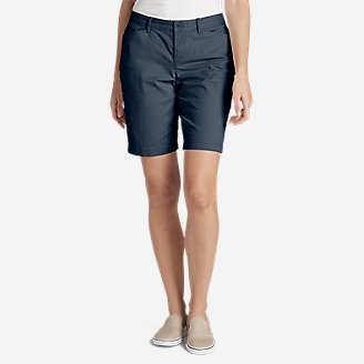 Thumbnail View 1 - Women's Stretch Legend Wash Shorts - Curvy Fit, 10""