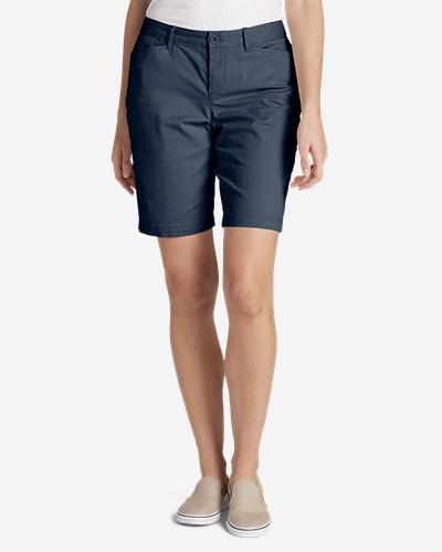 Eddie Bauer Women's Stretch Legend Wash Shorts - Curvy Fit, 10 Inch