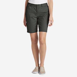 "Thumbnail View 1 - Women's Stretch Legend Wash Shorts - Curvy Fit, 10"""