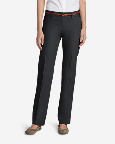 Eddie Bauer Women's StayShape Straight Twill Pants - Slightly Curvy