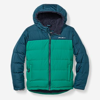 Thumbnail View 1 - Boys' Classic Down Hooded Jacket