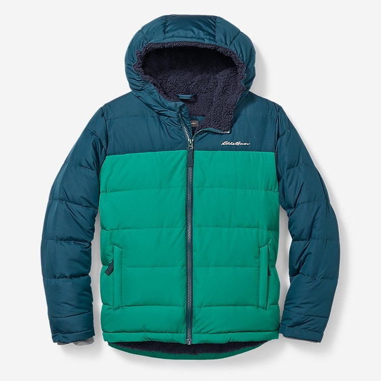 Boys' Classic Down Hooded Jacket large version