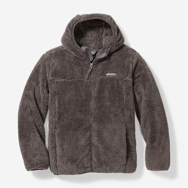 High Pile Hoodie Fleece Jacket Men's