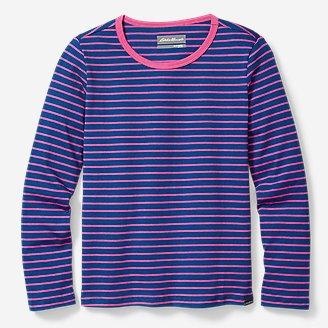 Thumbnail View 1 - Girls' Favorite Long-Sleeve T-Shirt - Stripe